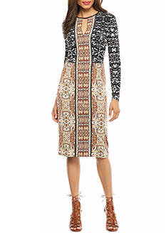 Maggy London Paisley Printed Jersey Dress