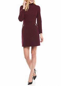 Maggy London Diamond Jacquard Knit Sheath Dress