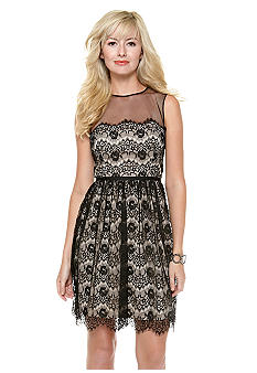 Maggy London Petite Sleeveless Allover Lace Dress