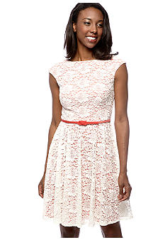 Maggy London Petite Open Weave Lace Dress