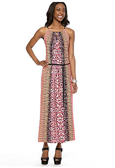 Maggy London Printed Matte Jersey Maxi Dress