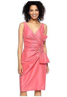 Maggy London Sleeveless Taffeta Dress with Bow