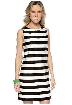 Maggy London Sleeveless Stripped Shift Dress