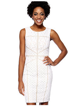 Maggy London Petite Sleeveless Lace Sheath Dress