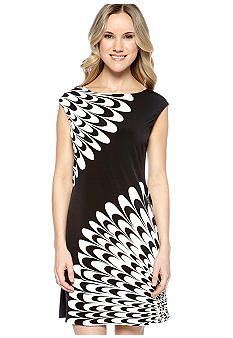 Maggy London Sleeveless Printed Jersey Shift Dress