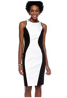 Maggy London Sleeveless Colorblock Sheath Dress