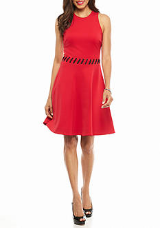 Maggy London Scuba Fit and Flare Dress