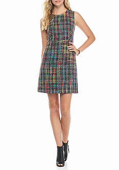 Maggy London Novelty Tweed Sheath Dress
