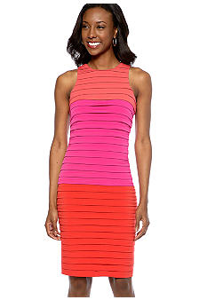 London Times Sleeveless Colorblock Dress