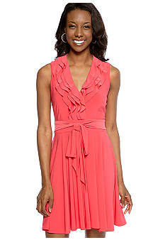 Taylor Sleeveless Ruffle Dress
