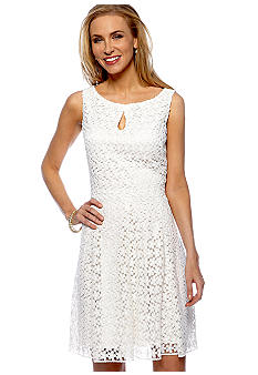 Taylor Crochet Fit and Flare Dress
