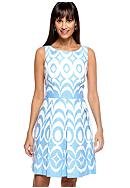 Taylor Sleeveless Printed Fit and Flare Dress