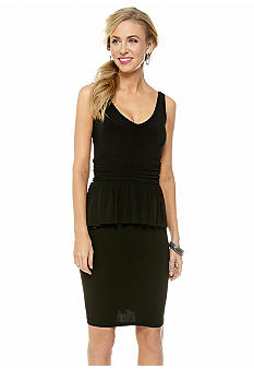 Taylor Sleeveless Peplum Sheath Dress