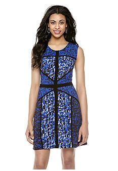 Taylor Sleeveless Printed Jersey Dress.