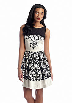 Taylor Sleeveless Printed Party Dress