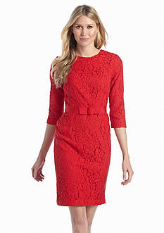 Taylor Allover Lace Sheath Dress