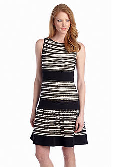 Taylor Striped Drop-Waist Dress