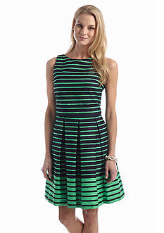 Taylor Striped Fit and Flare Dress