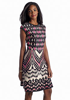 Taylor Printed Fit-and-Flare Dress