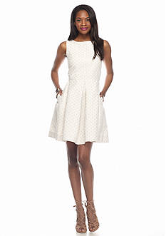 Taylor Eyelet Fit and Flare Dress