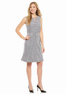 Taylor Striped A-line Dress