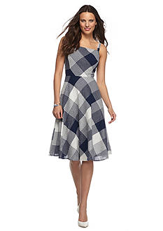 Taylor Plaid Fit and Flare Sun Dress