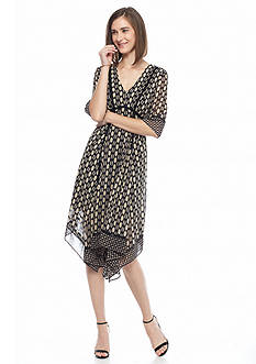 Taylor Printed Hankie Hem Dress