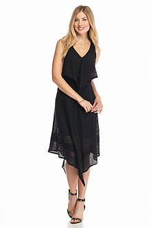 Taylor Eyelet Hankie Hem Dress