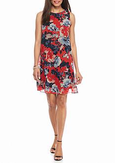Taylor Floral Chiffon Trapeze Dress