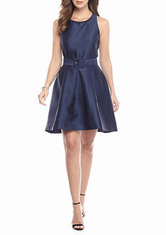 Taylor Belted Fit and Flare Dress