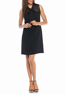 Taylor Bow-Tie Neck Sheath Dress
