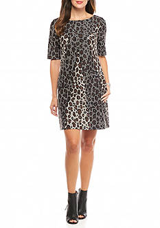 Taylor Leopard Printed Shift Dress