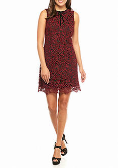 Taylor Lace Overlay Sheath Dress