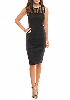Taylor Lace Panel Body-con Dress