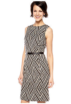 Anne Klein Sleeveless Belted Sheath Dress