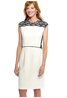Anne Klein Cap-Sleeved Sheath Dress