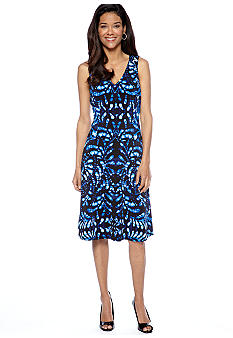 Anne Klein Sleeveless Printed Swing Dress