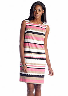 Anne Klein Sleeveless Striped Shift Dress