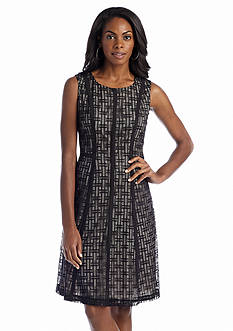 Anne Klein Sleeveless Fit and Flare Lace Dress