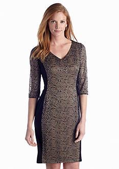 Anne Klein Lace Panel Sheath Dress