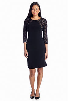 Anne Klein Three-Quarter Sleeve Sheath Dress