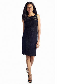 Anne Klein Allover Lace Sheath Dress