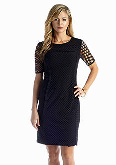 Anne Klein Allover Mesh Sheath Dress