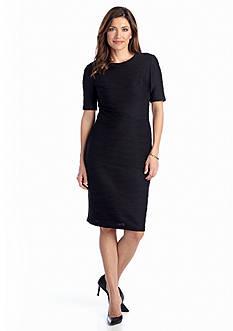 Elbow-Sleeve Sheath Dress