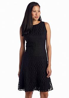 Anne Klein Lace Banded Drop-waist Dress