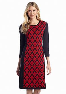 Anne Klein Printed Sweaterdress