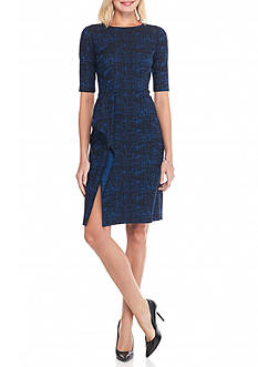 Anne Klein Printed Jacquard Sheath Dress