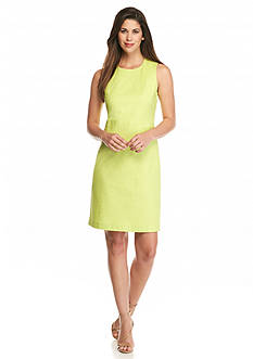 Anne Klein Cotton Pique Sheath Dress