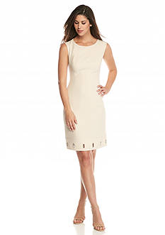 Anne Klein Sleeveless Crepe Sheath Dress