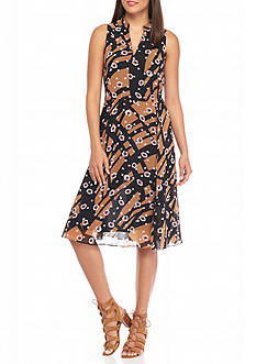 AK Anne Klein Printed A-line Dress